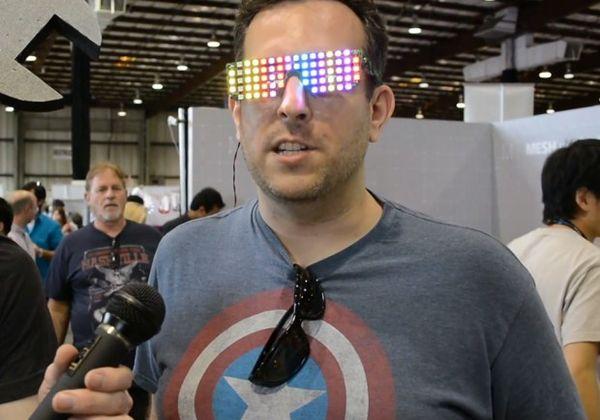 Multicoloured LED Sunglasses