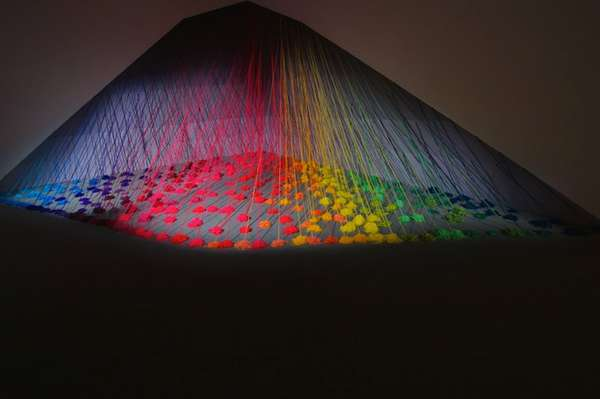 Wool Rainbow Installations