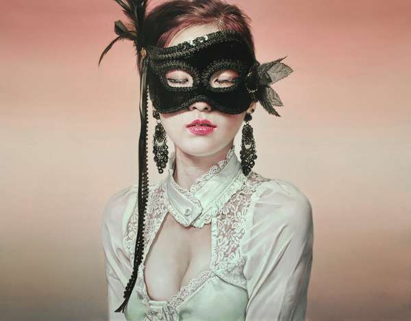 Photoreal Masquerade Paintings