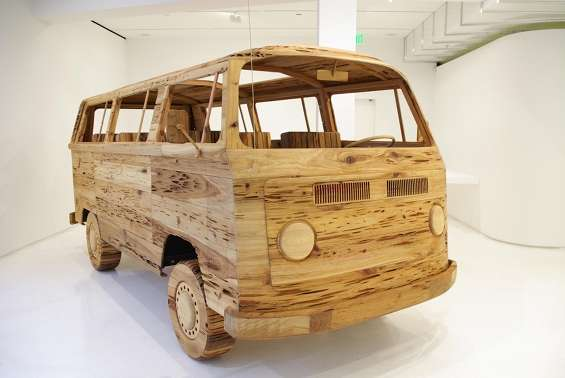 Nostalgically Iconic Wood Sculptures