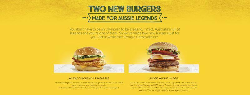 Legendary Burger Menus