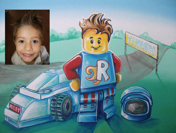 Personalized Block Toy Paintings