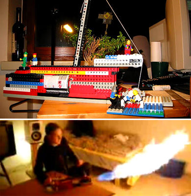 Lego Flame Thrower