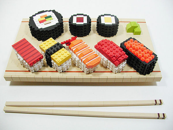 Lego Toy Food : Appetizing asian lego food