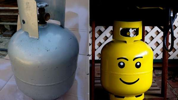 LEGO Head Propane Tank