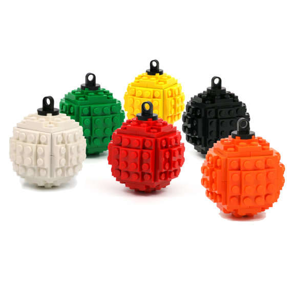 Toy block holiday decorations lego ornaments for Decoration lego