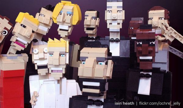 LEGO Celebrity Selfie Recreations