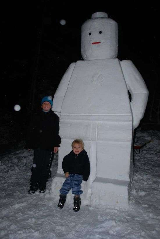 Brick Toy Snow Sculptures