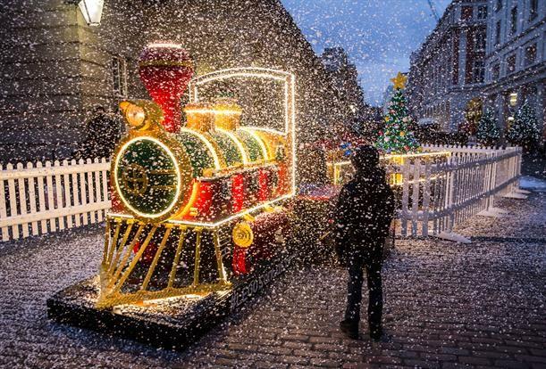 Life-Sized LEGO Trains