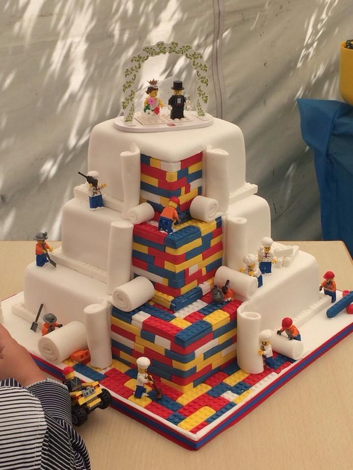 LEGO-Inspired Wedding Cakes