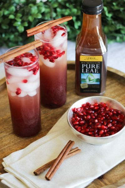 Sparkling Seasonal Fruit Teas