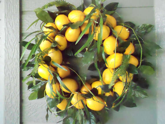 Zesty Holiday Decor Lemon Wreath