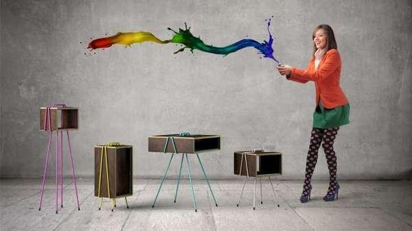 Colorful Interlocking Furniture