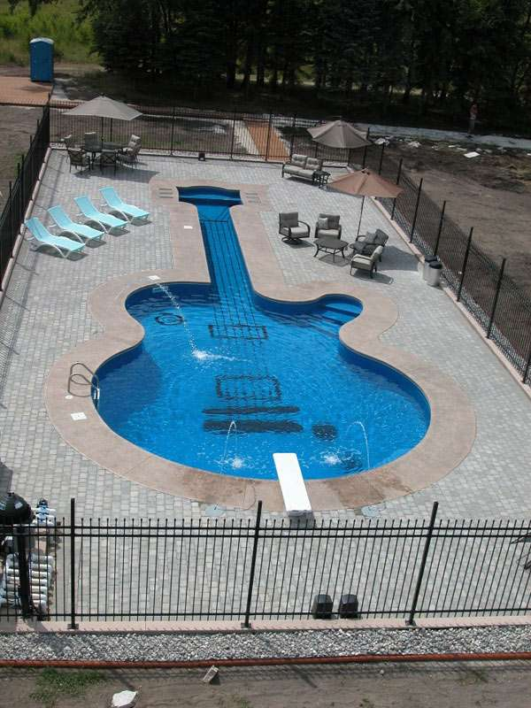les paul custom guitar aqua tech pools