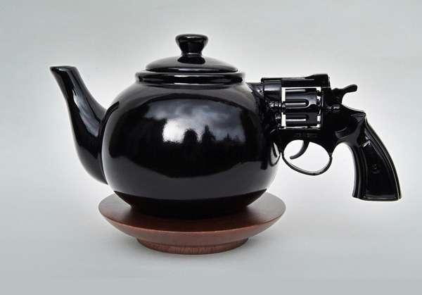 Pistol-Handled Teapots