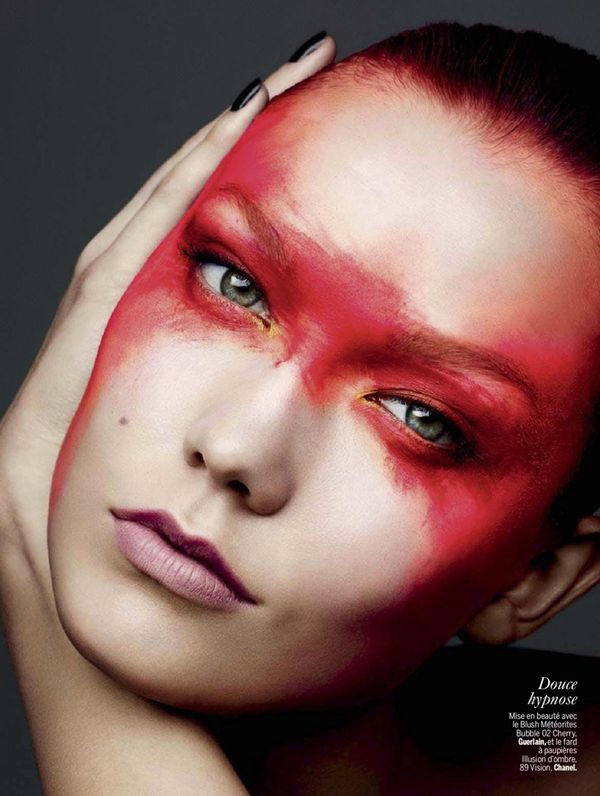 Colorfully Dramatic Makeup Editorials