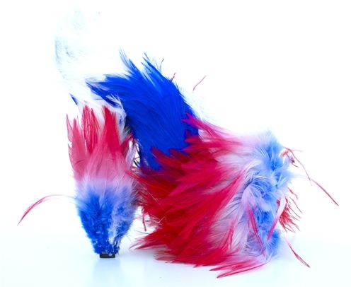 Patriotic Feather Heels