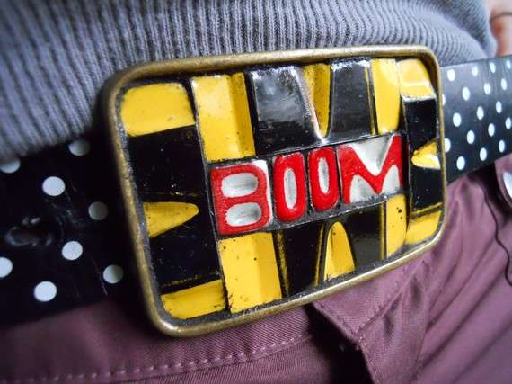 license plate belt buckles