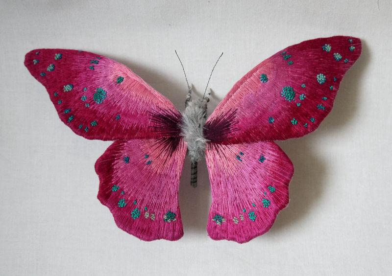 Lifelike Butterfly Sculptures