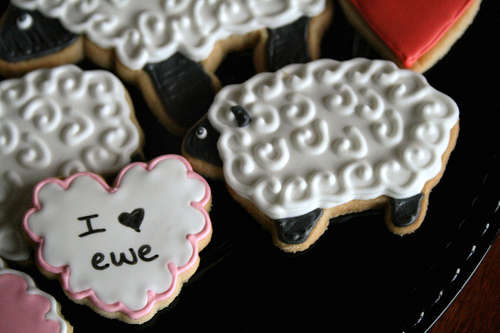 Life's a Batch I Love Ewe Cookies