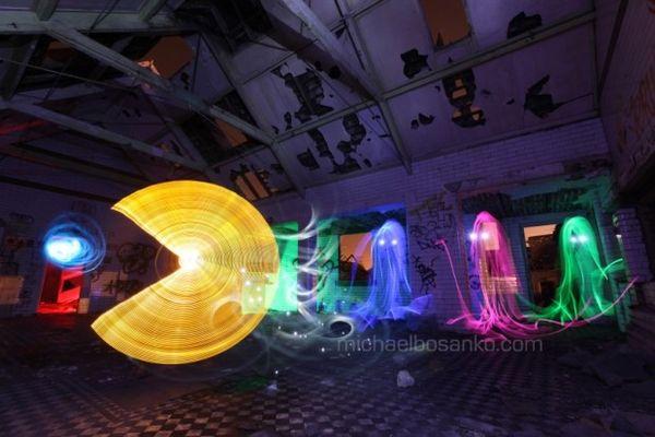 Video Game Light Art