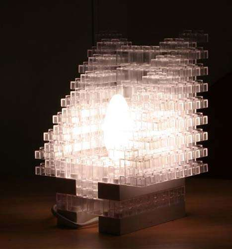 Fake Ice Cube Lamps