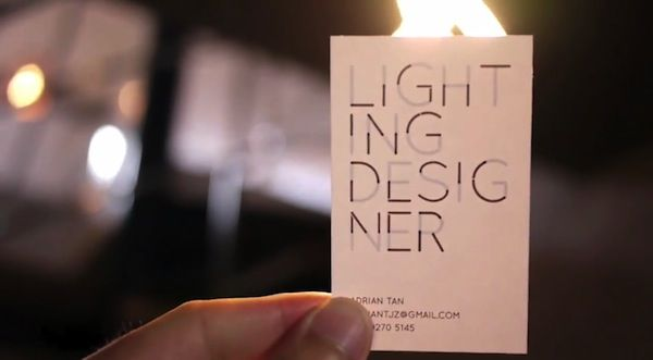 Interactive Light Business Cards