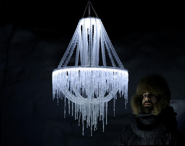 Icy Stalactite Chandeliers
