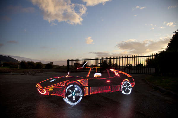 Illuminated Graffiti Cars Update Light Graffiti Car Photos