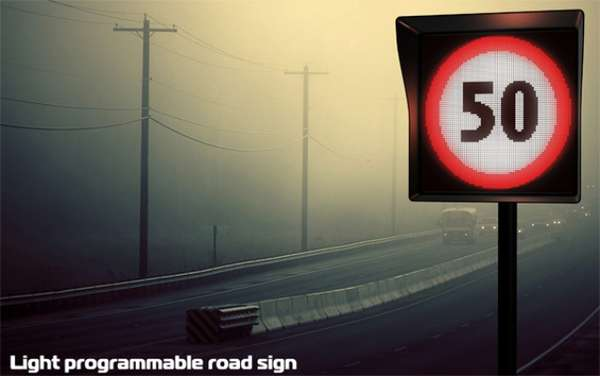 Light Programmable Road Sign