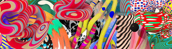 Technicolored Abstract Artwork
