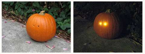DIY Light-Sensitive Jack o' Lanterns