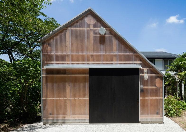 Translucent Corrugated Structures Light Shed