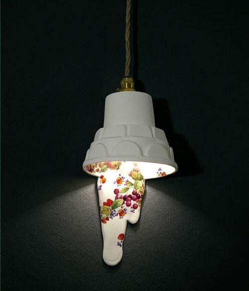 Porcelain-Dripping Lighting