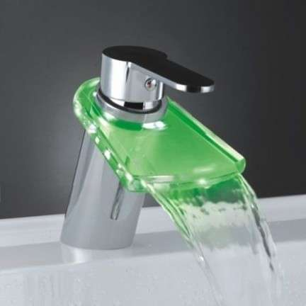 Lighted Waterfall Faucets