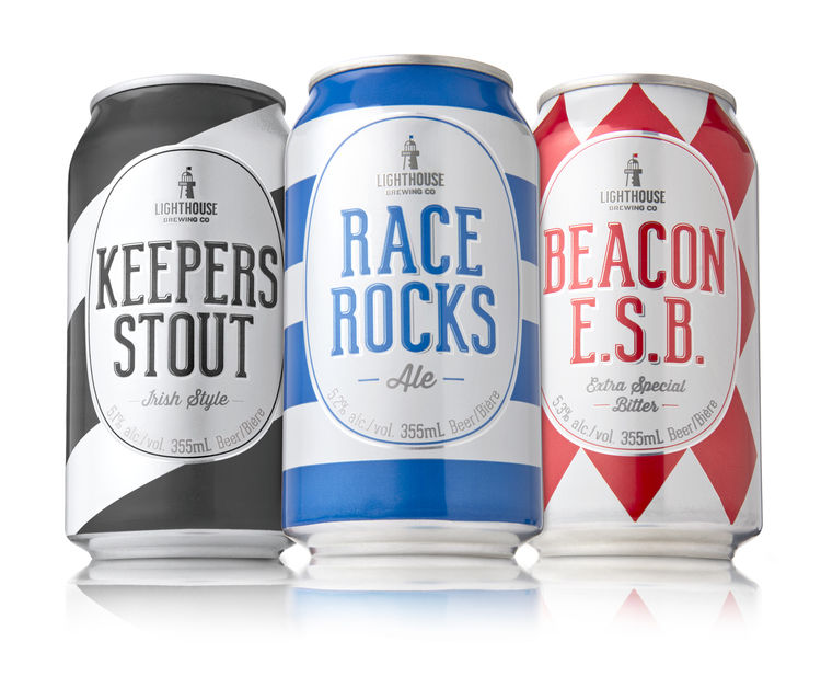 Nautical-Patterned Brew Branding