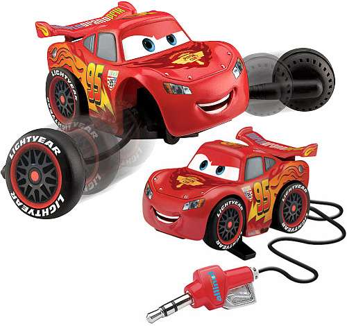 Lightning McQueen Retractable Earbuds