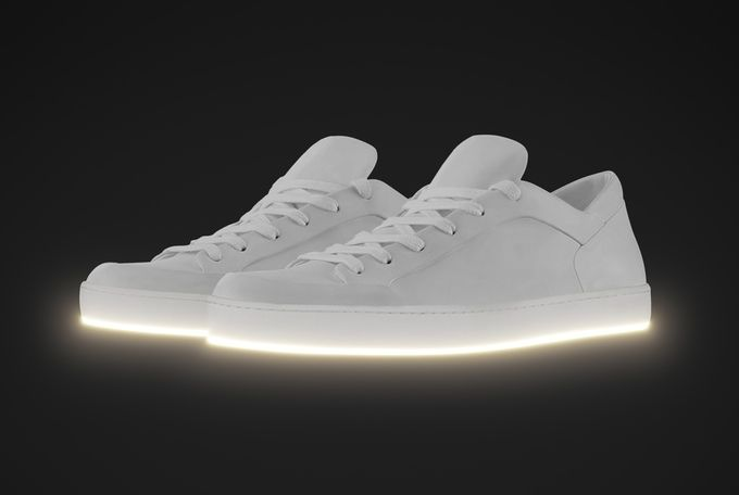 Minimalist Light-Up Sneakers