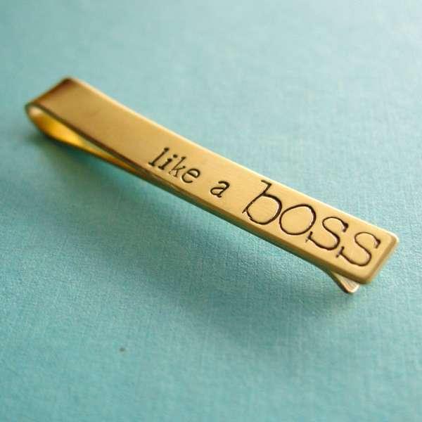 Viral Phrase Tie Clips