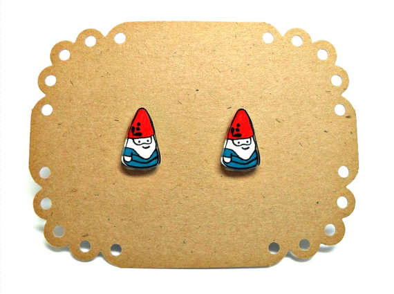 Lil Gnome post earrings