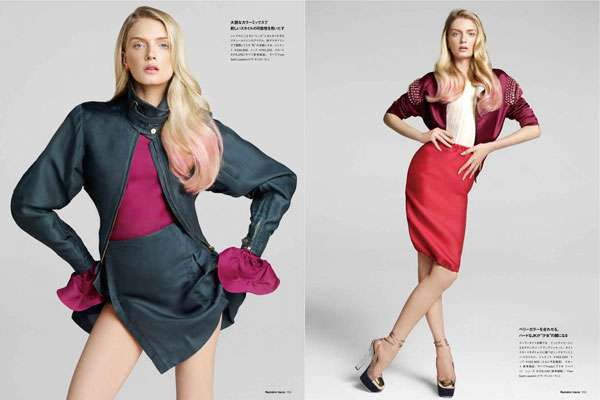 Pink-Accented Editorials