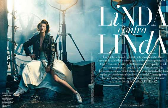 Linda Evangelista for Vanity Fair Spain September 2012