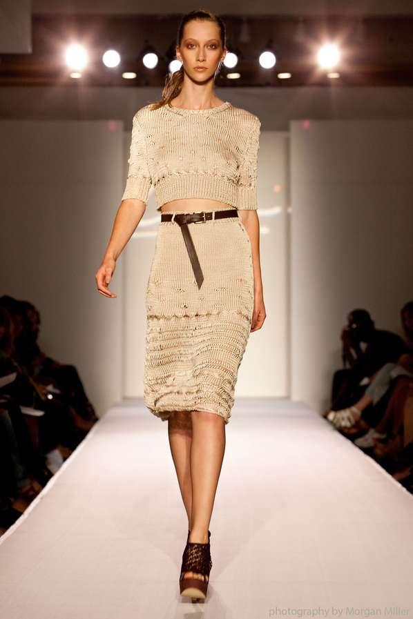 Neutral Knit Fashion