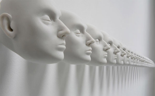 Morphing Mannequin Head Installations