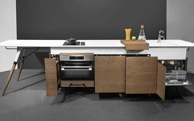 Modular small space kitchens linear kitchen for Linear kitchen design