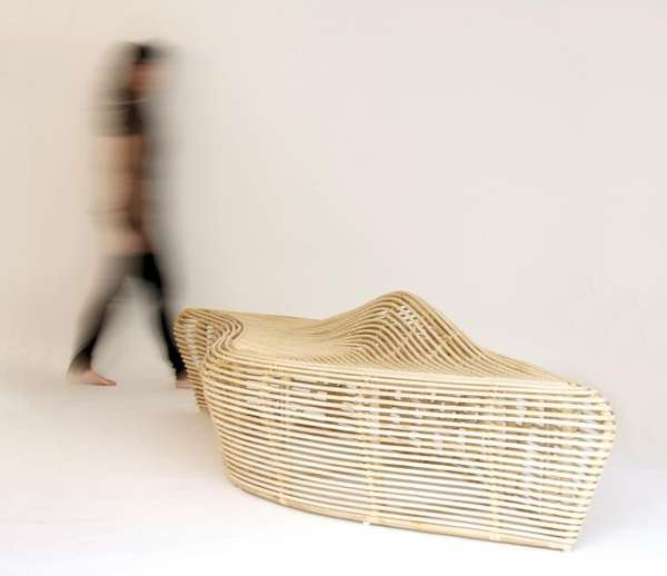Weaved Wave Seating