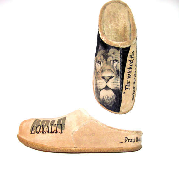 Lion Proverb Slippers