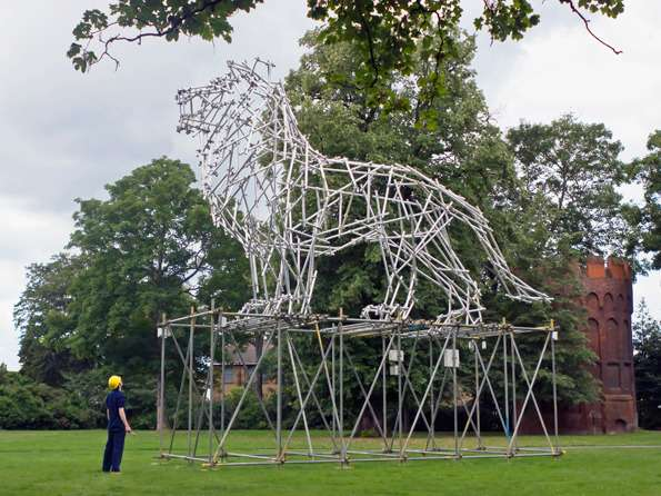 Lion Scaffolding Sculpture