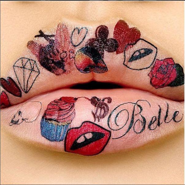 Tattoo Illustration Lip Looks
