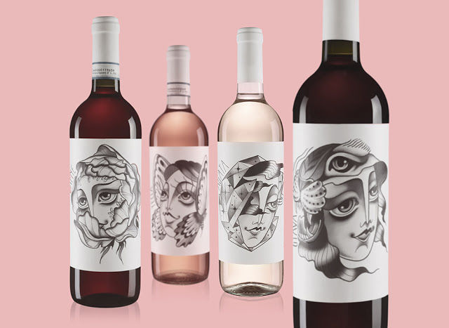 Animalistic Wine Labels